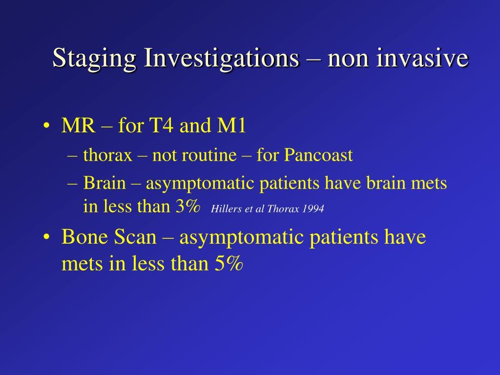 Staging Investigations – non invasive