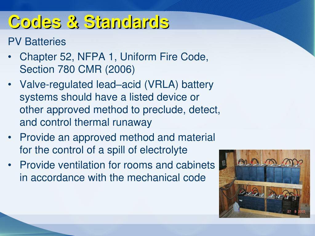 Codes & Standards