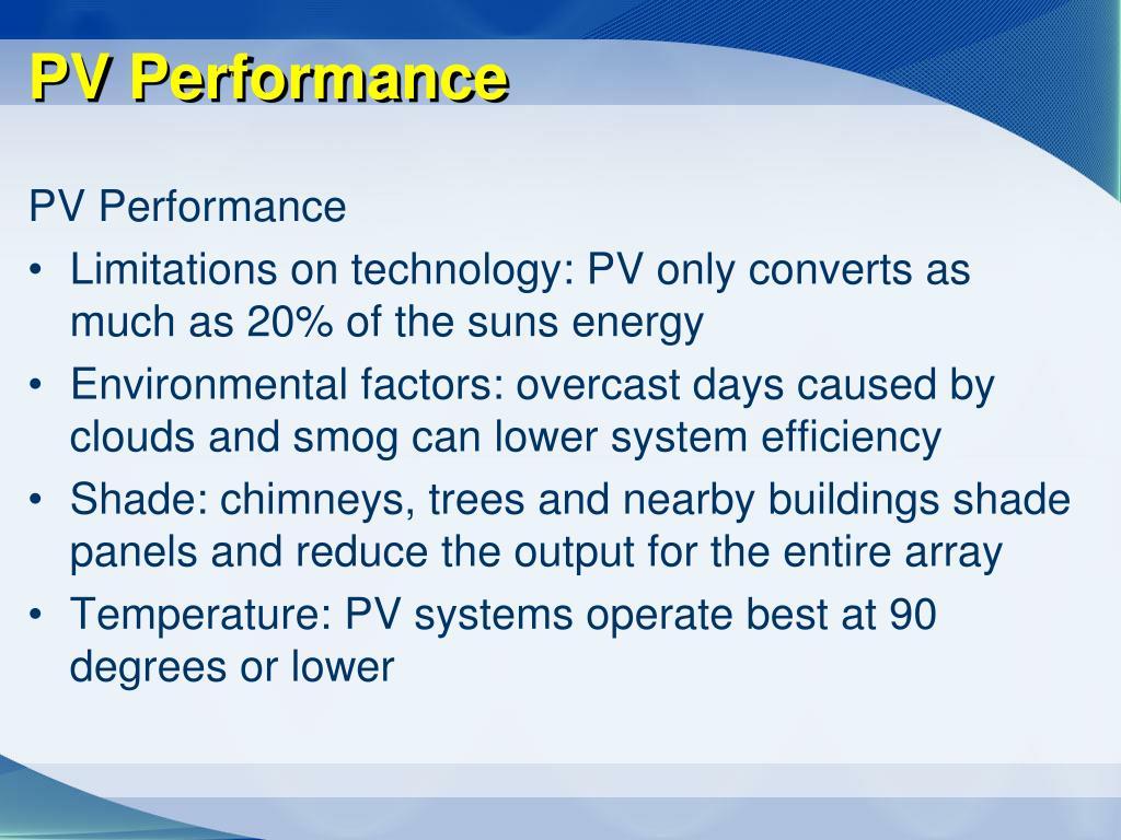 PV Performance