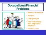 occupational financial problems