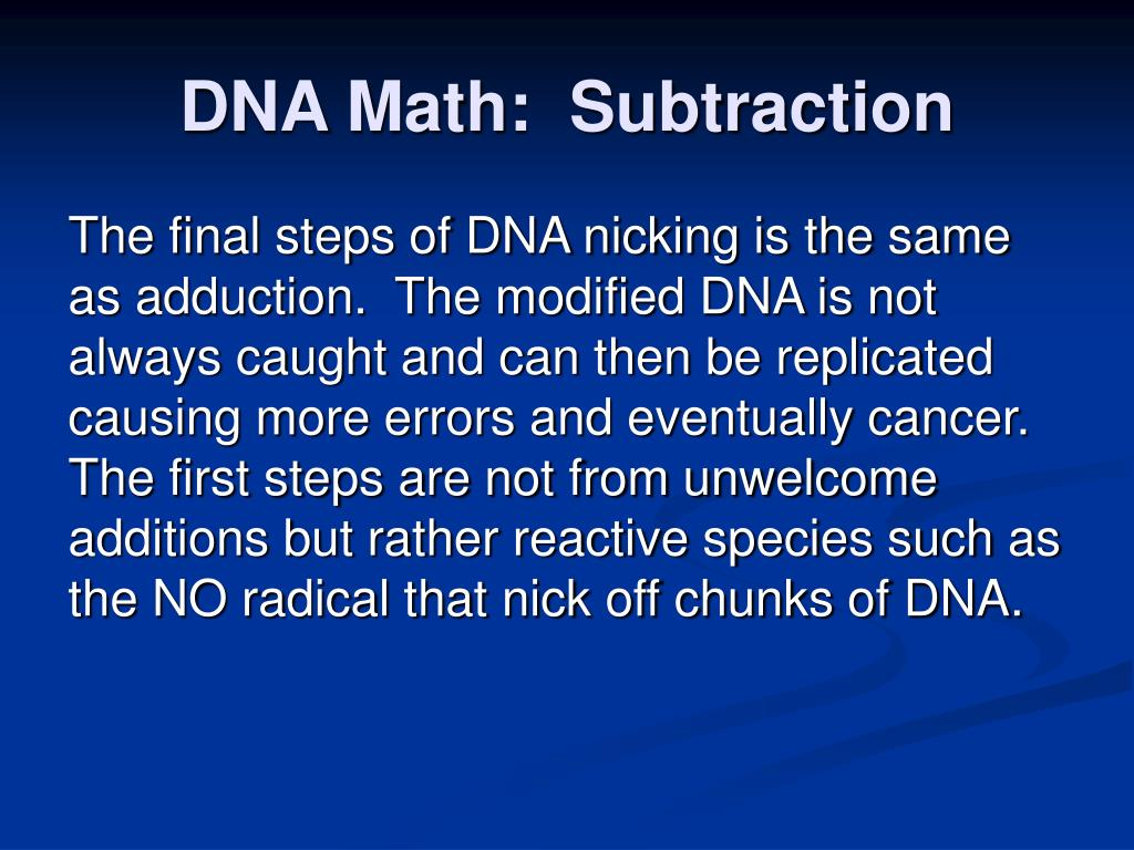 DNA Math:  Subtraction