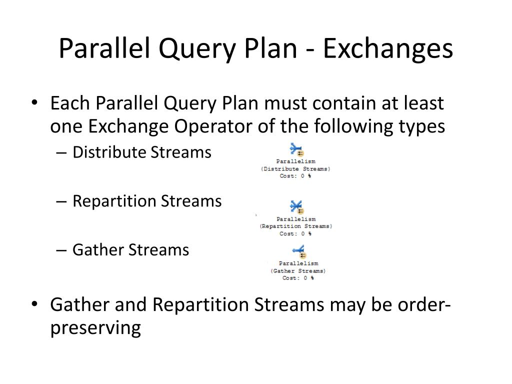 Parallel Query Plan - Exchanges