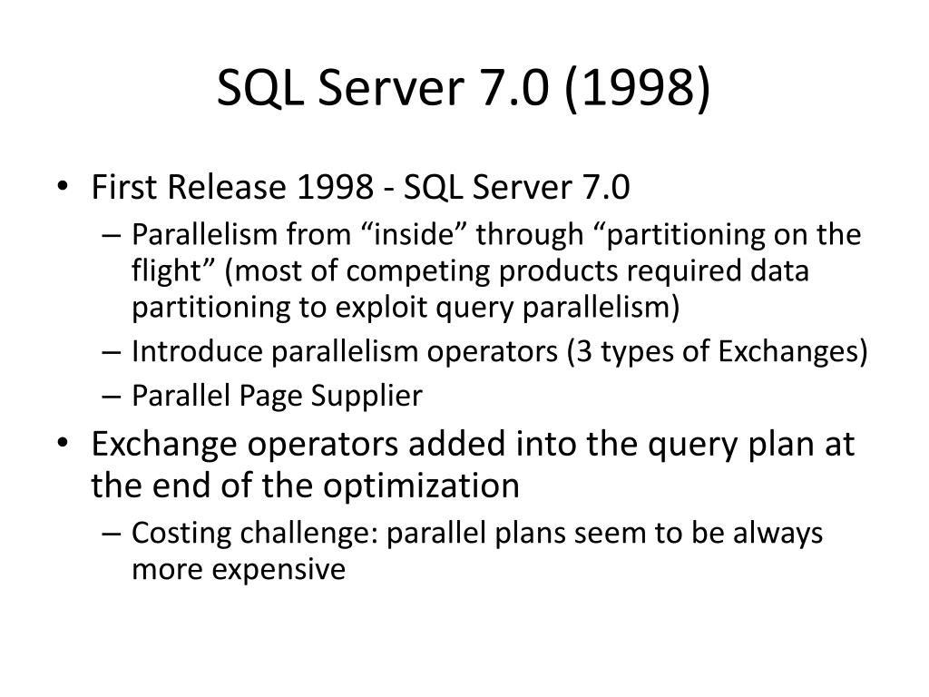SQL Server 7.0 (1998)