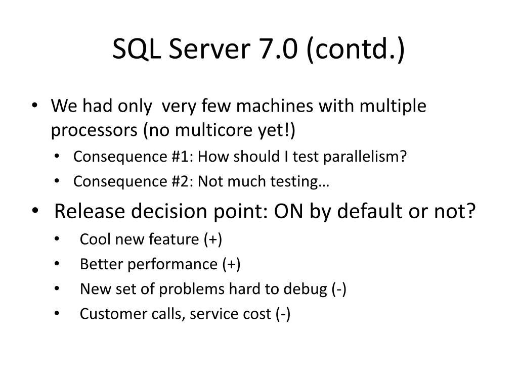 SQL Server 7.0