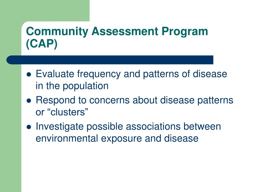 Community Assessment Program (CAP)