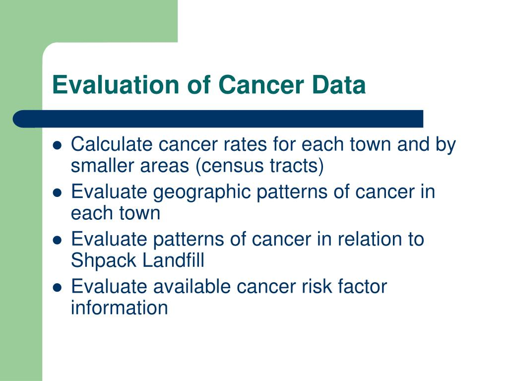 Evaluation of Cancer Data