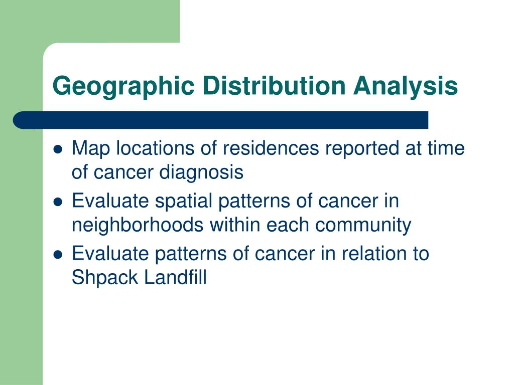Geographic Distribution Analysis