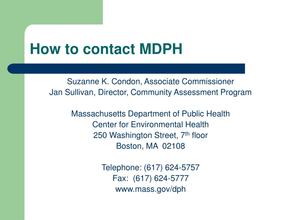How to contact MDPH