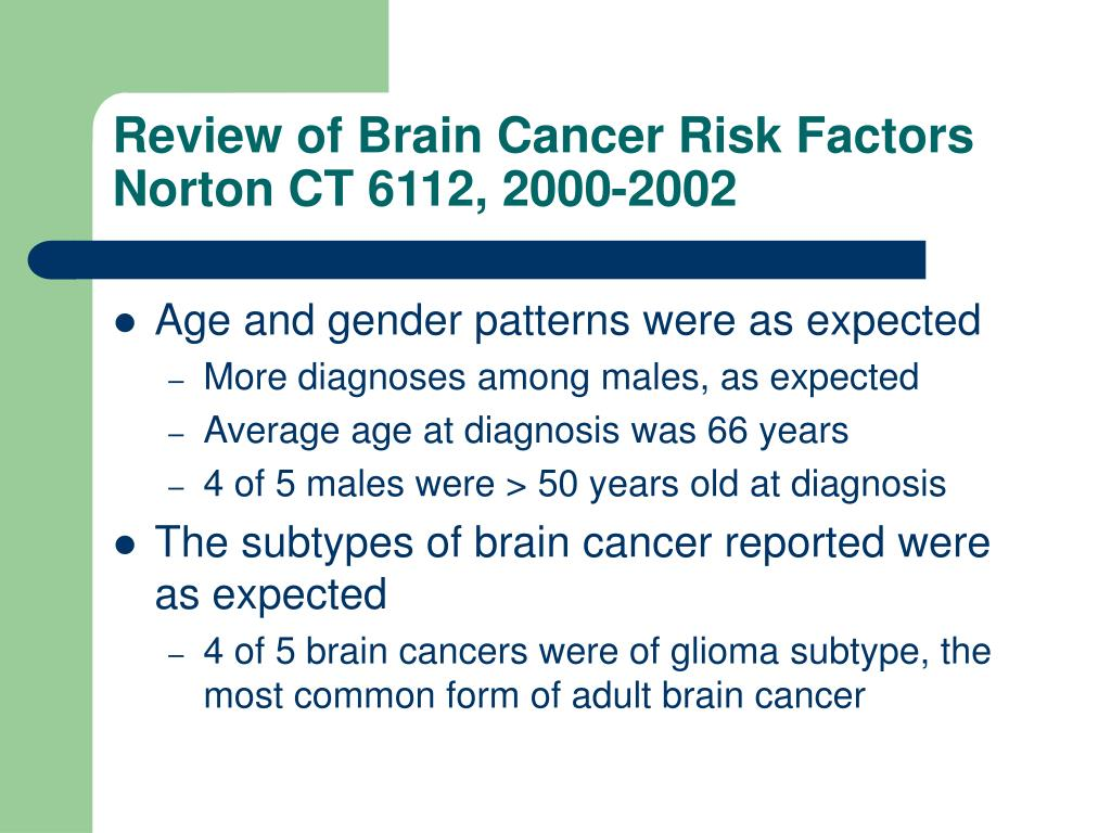 Review of Brain Cancer Risk Factors