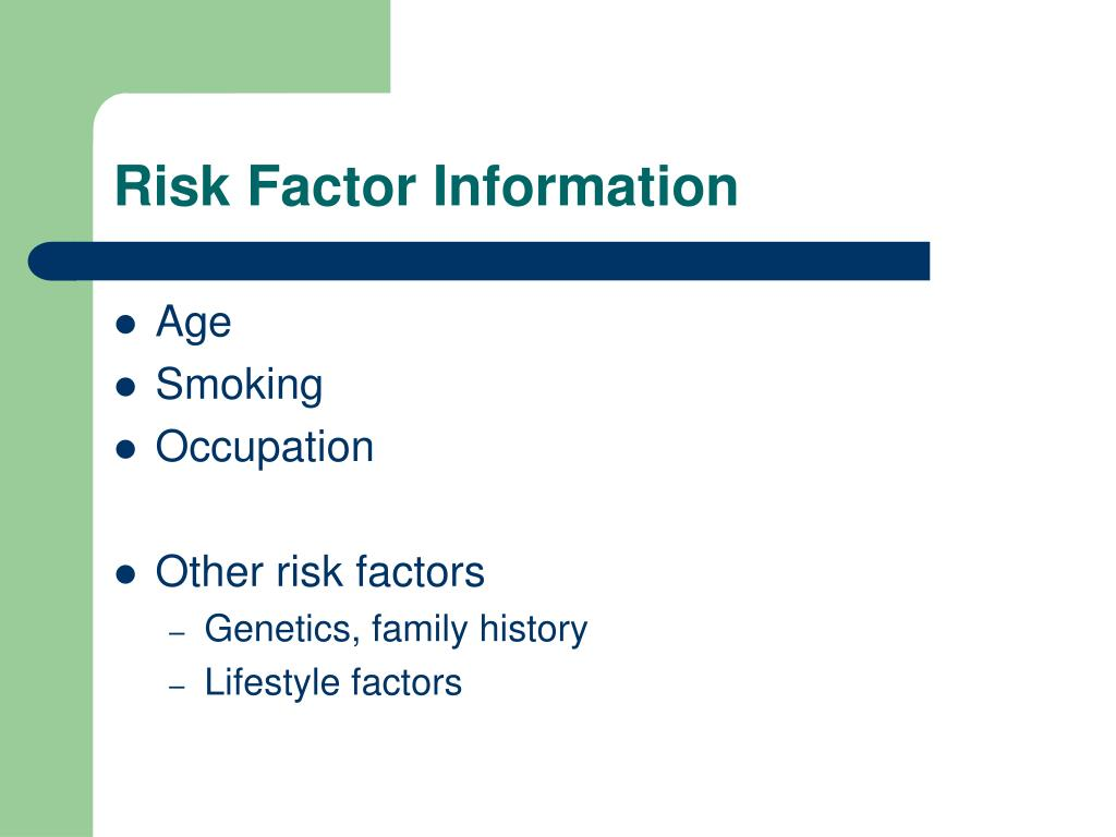 Risk Factor Information