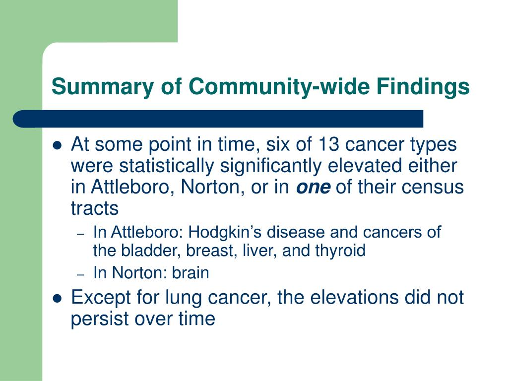 Summary of Community-wide Findings
