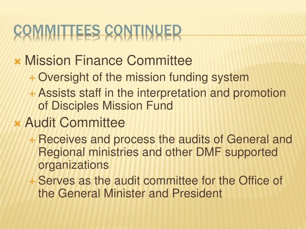 Mission Finance Committee