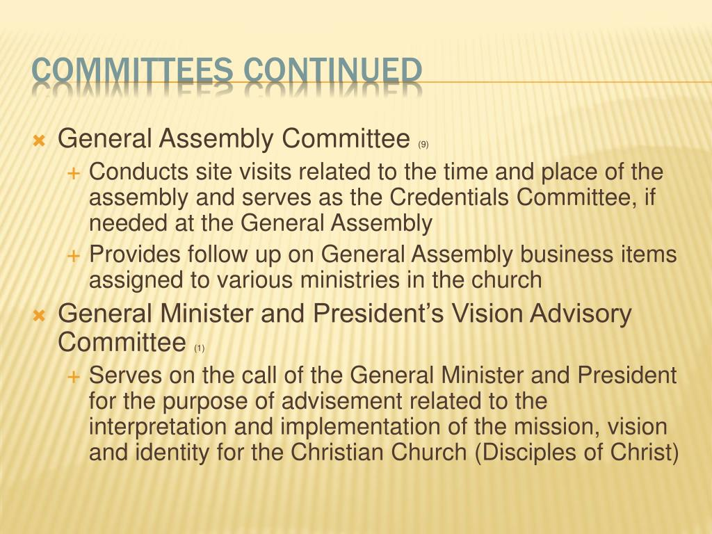 General Assembly Committee