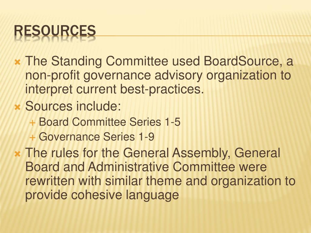 The Standing Committee used