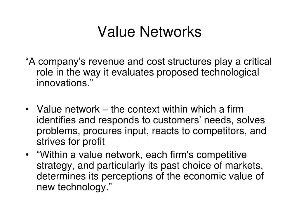 Value Networks