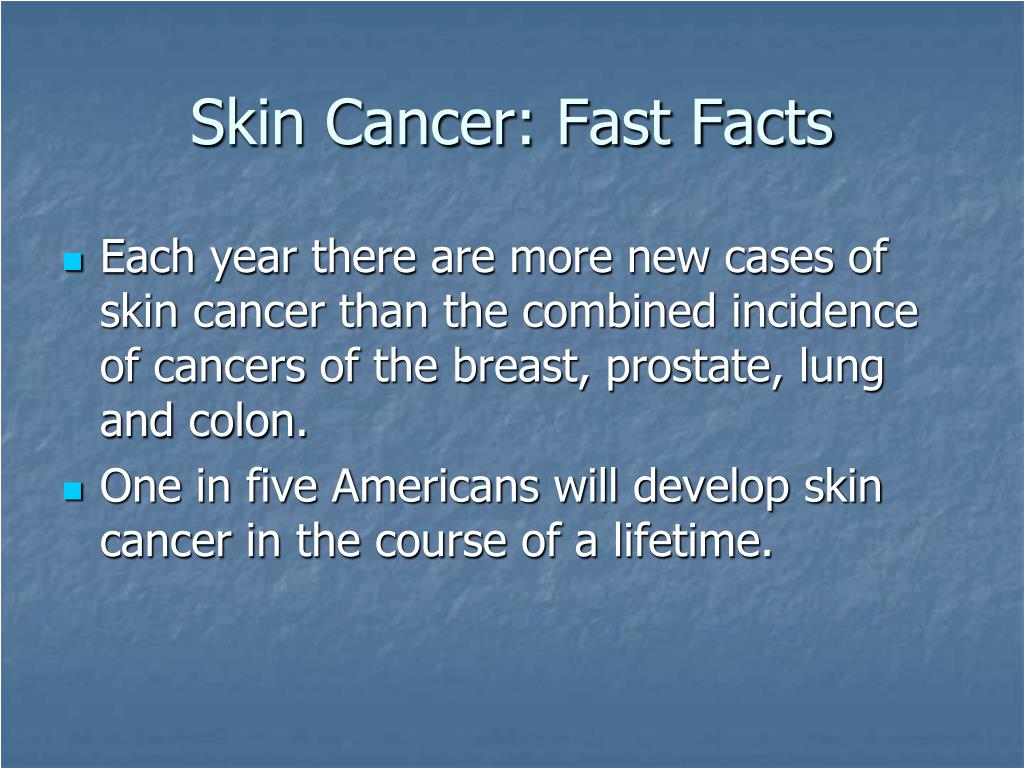 Skin Cancer: Fast Facts