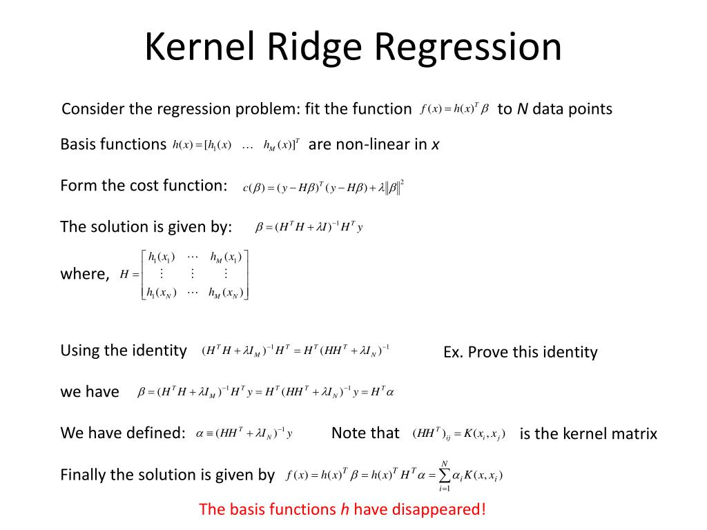 Kernel Ridge Regression