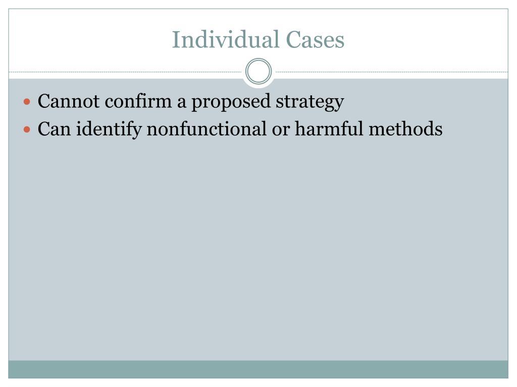 Individual Cases