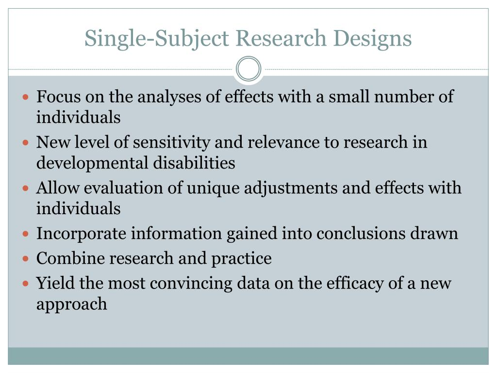 Single-Subject Research Designs