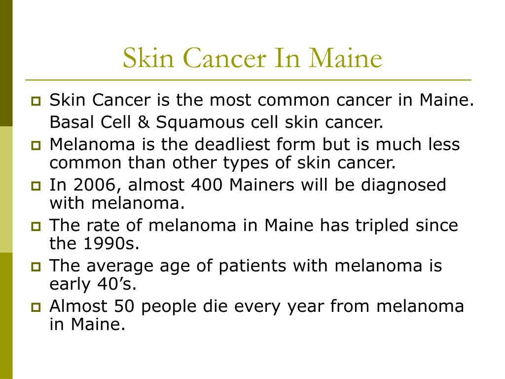 Skin Cancer In Maine