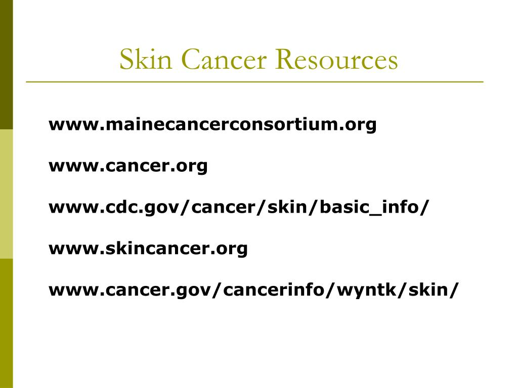 Skin Cancer Resources