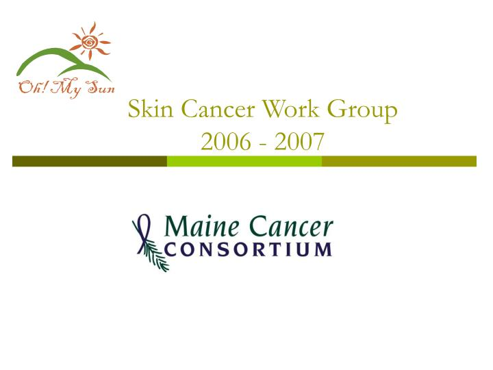 Skin cancer work group 2006 2007