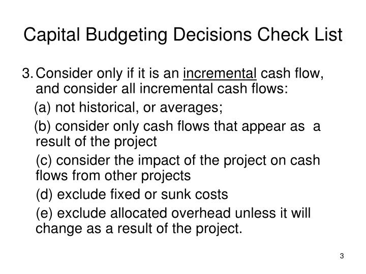 Capital budgeting decisions check list3