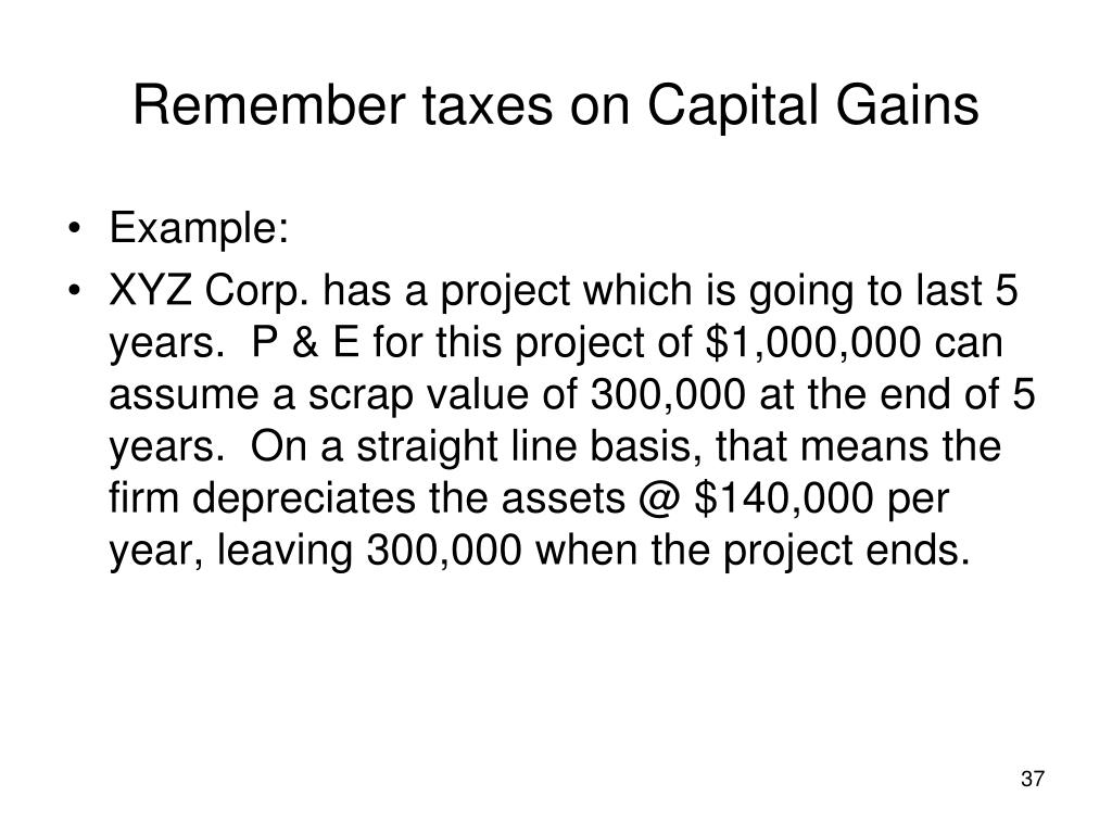 Remember taxes on Capital Gains