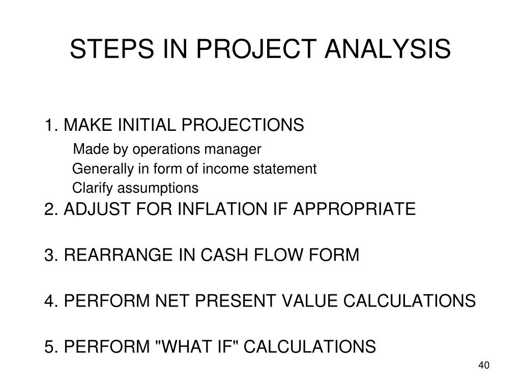 STEPS IN PROJECT ANALYSIS
