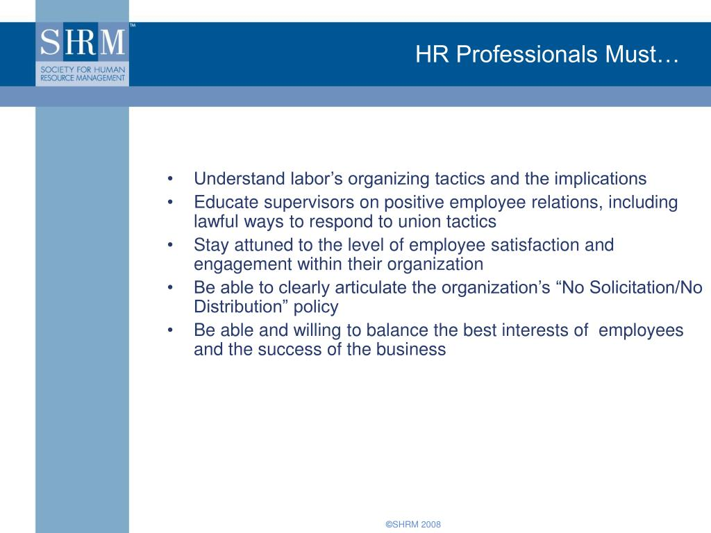 HR Professionals Must…