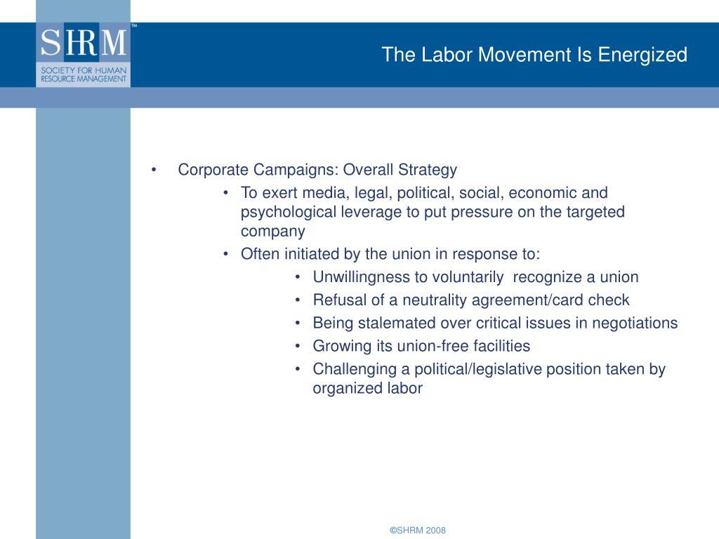 The Labor Movement Is Energized