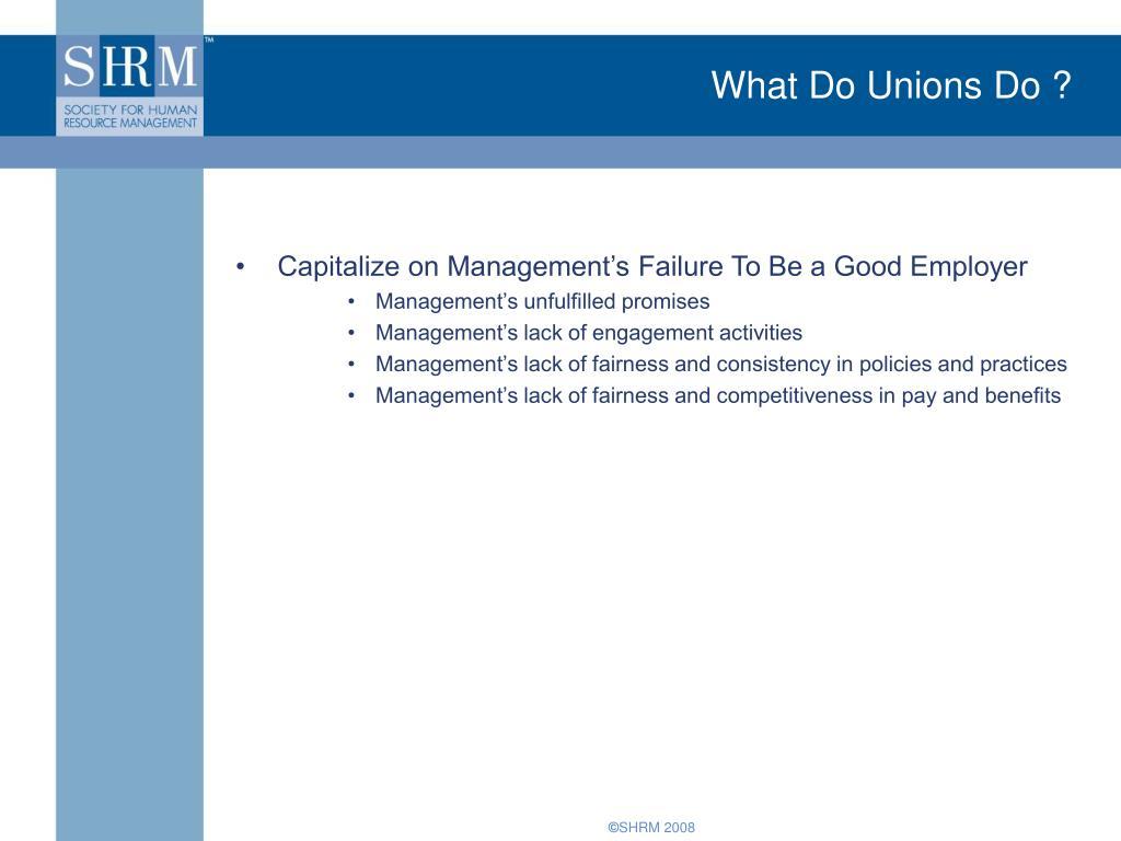 What Do Unions Do ?