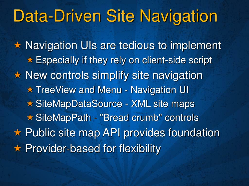 Data-Driven Site Navigation