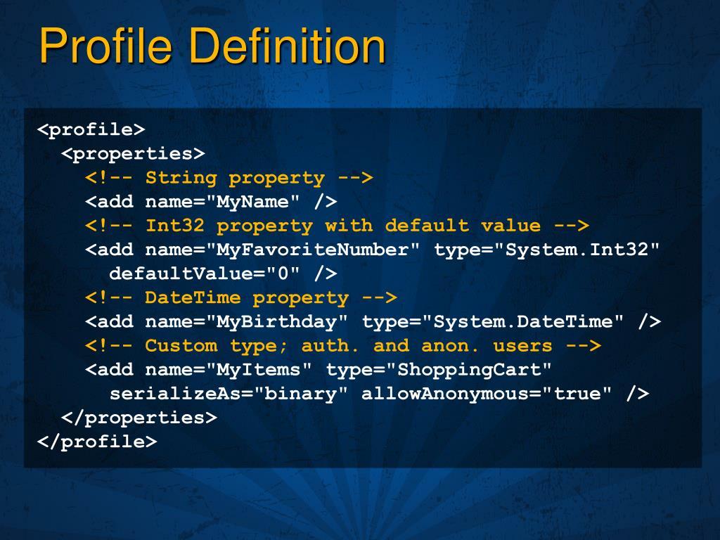 Profile Definition