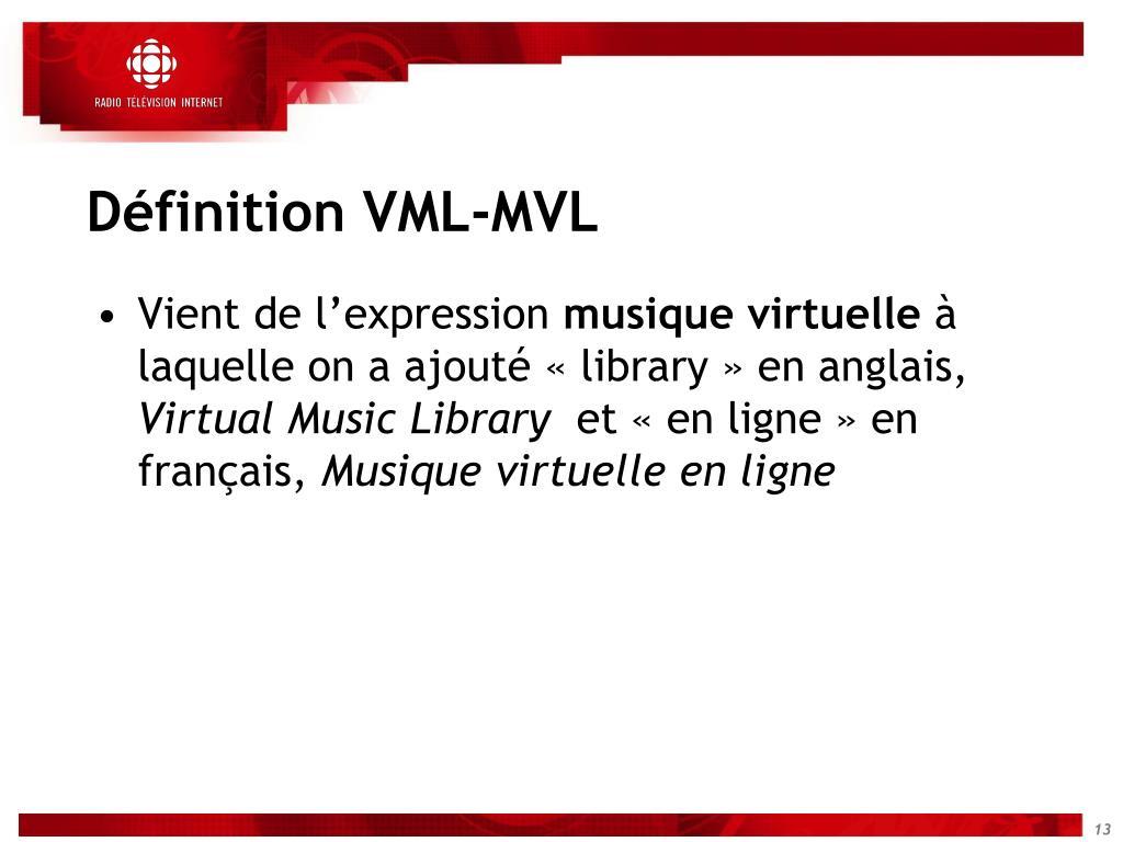Définition VML-MVL
