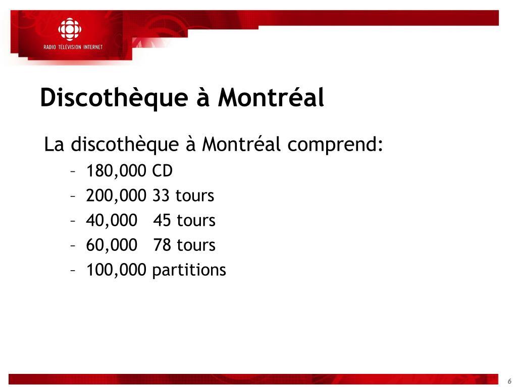 Discothèque à Montréal