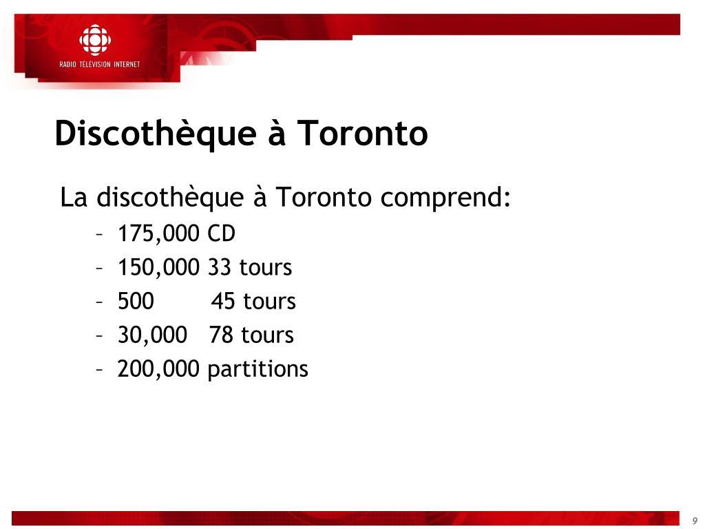 Discothèque à Toronto