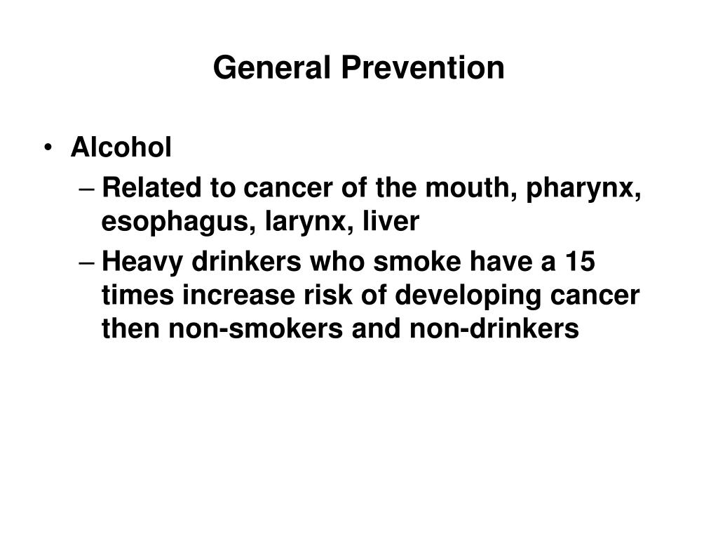 General Prevention
