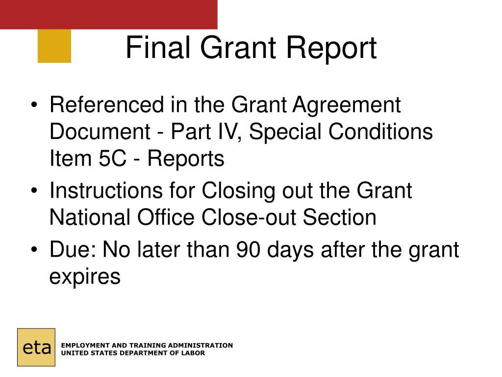 Final Grant Report