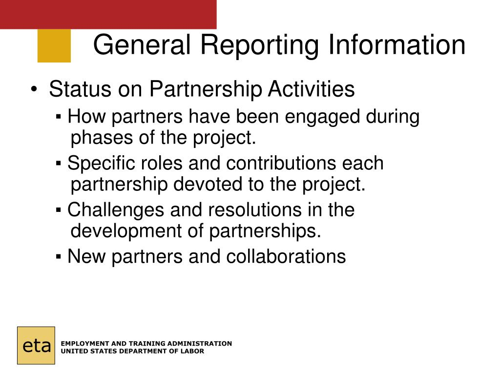 General Reporting Information