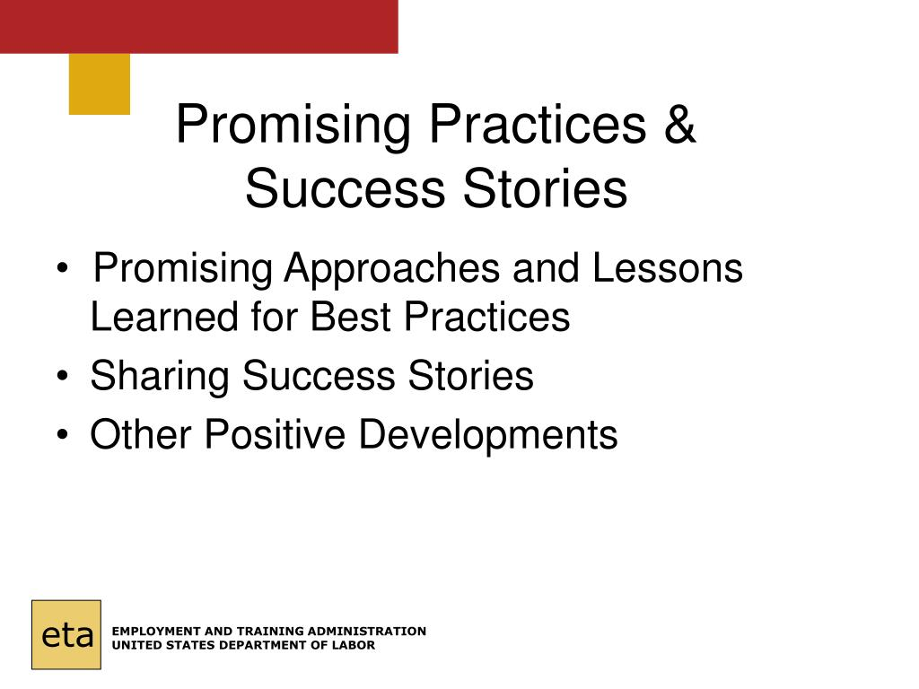 Promising Practices & Success Stories