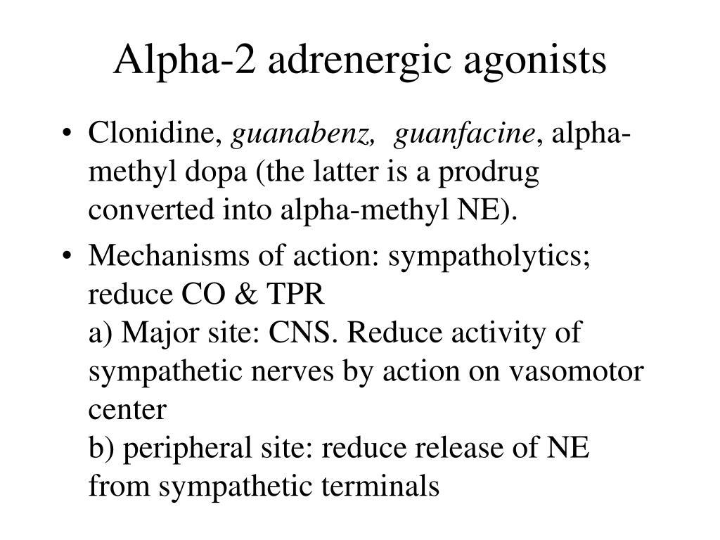Alpha-2 adrenergic agonists