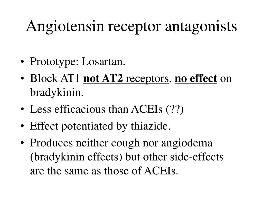 Angiotensin receptor antagonists