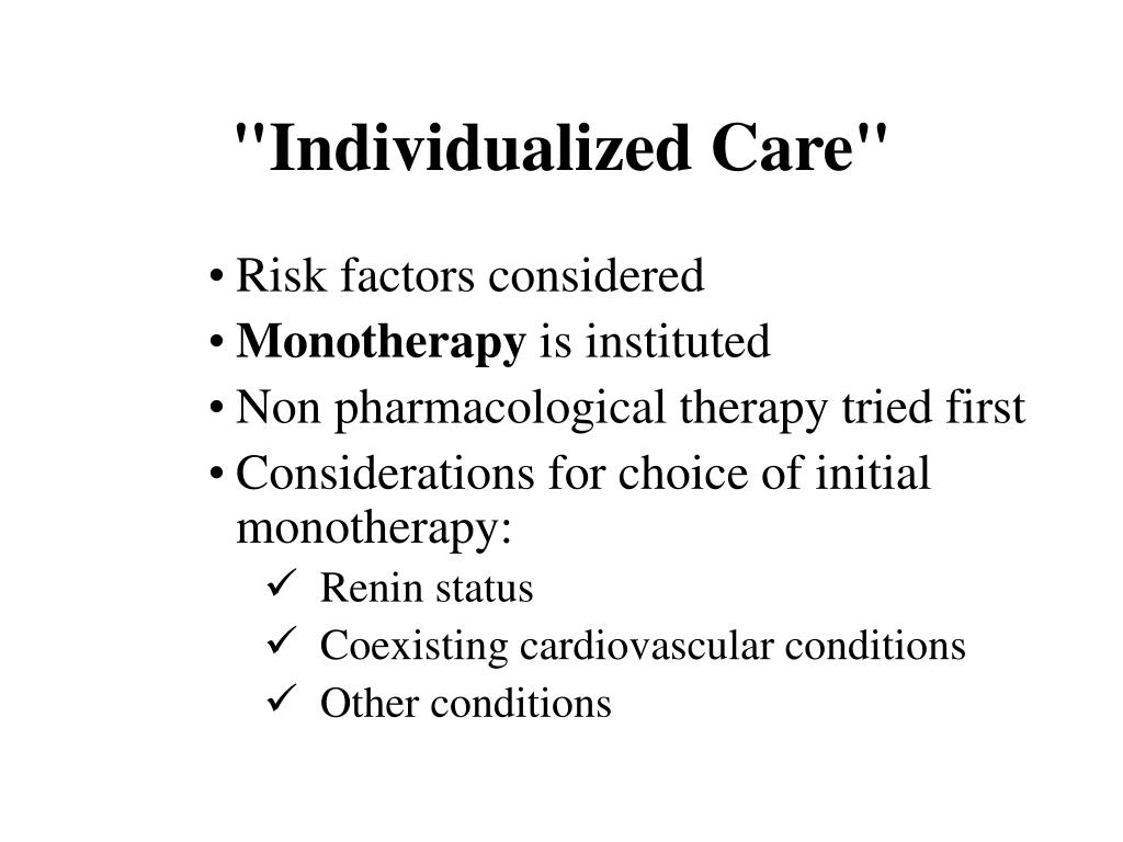 """Individualized Care"""