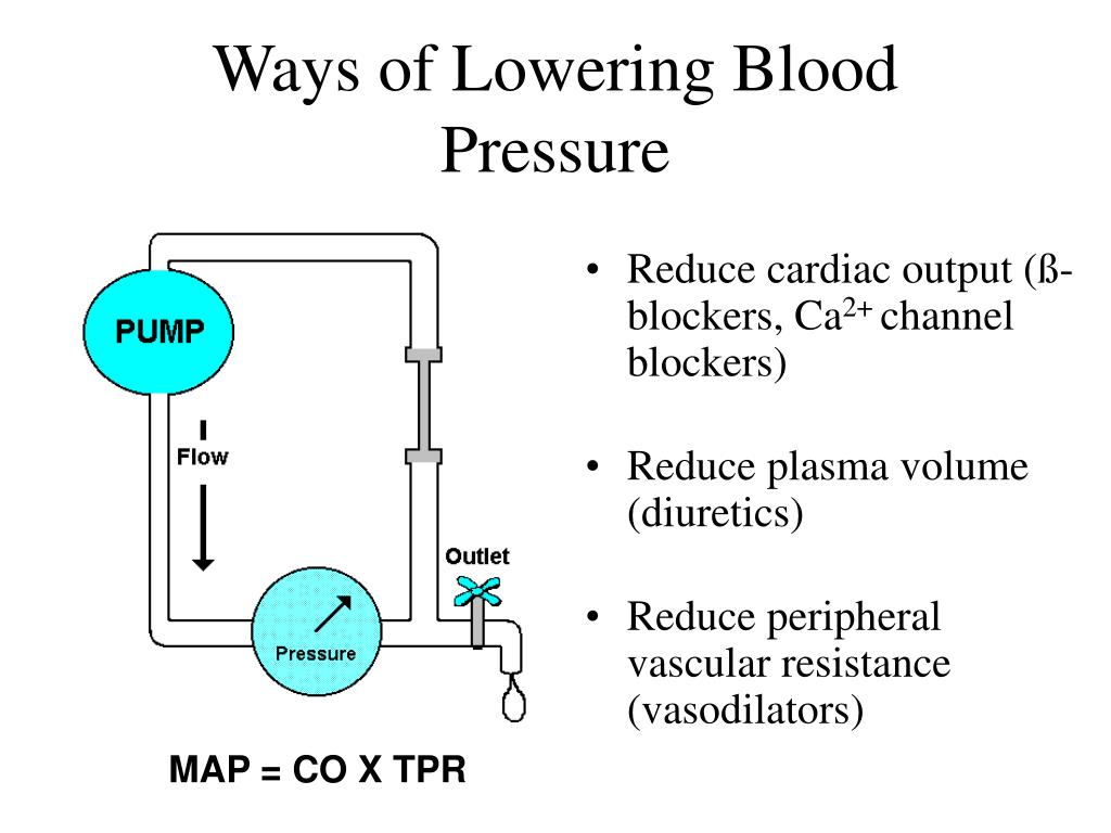 Ways of Lowering Blood Pressure
