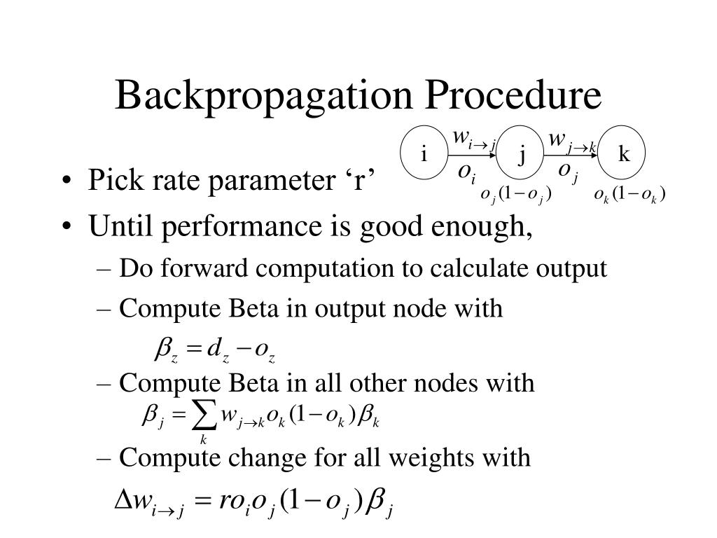 Backpropagation Procedure