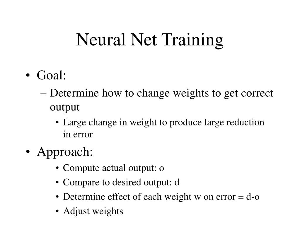 Neural Net Training