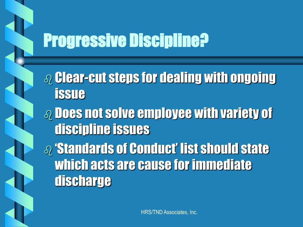 Progressive Discipline?