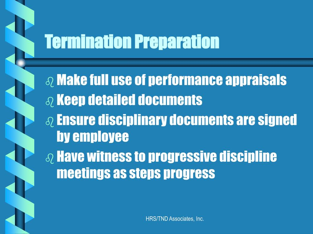 Termination Preparation