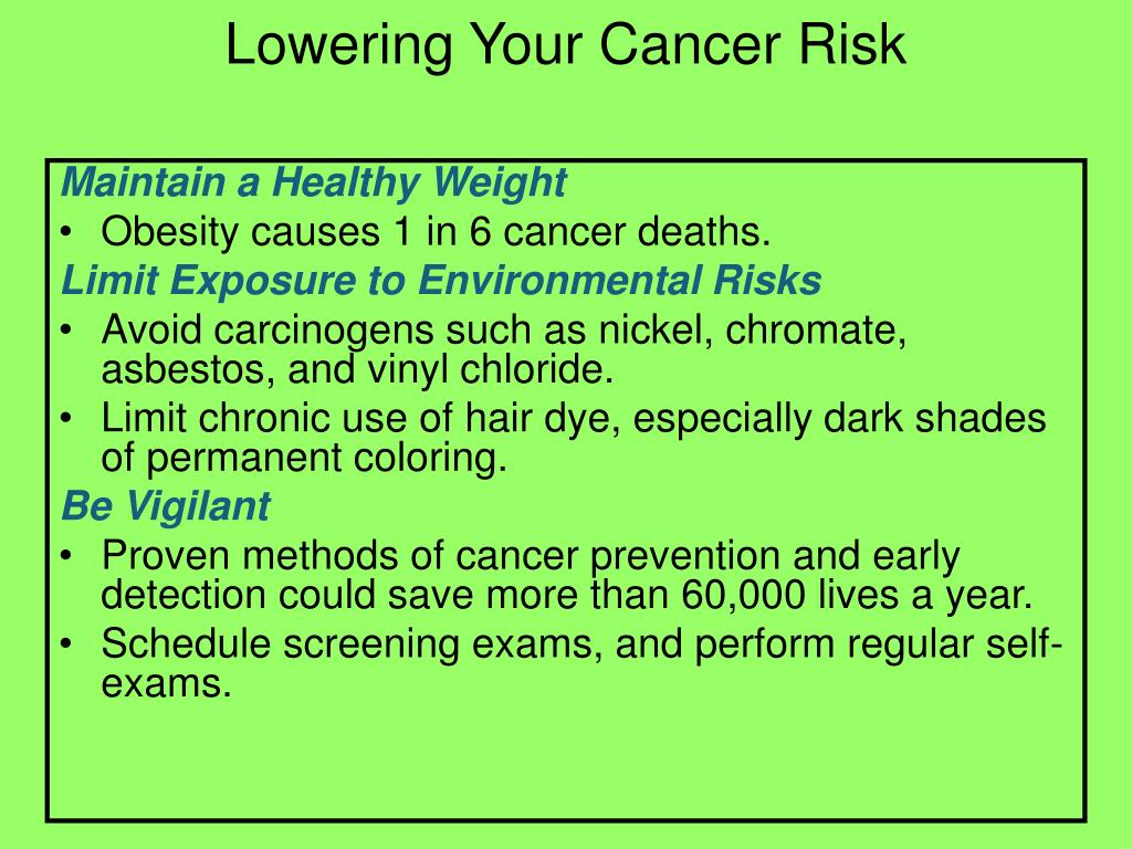 Lowering Your Cancer Risk